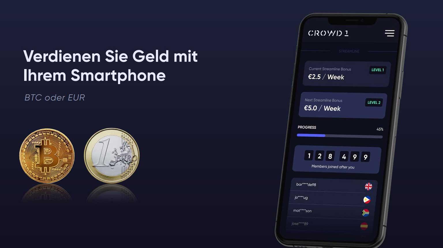 Verdienen geld mit deinem SmartPhone
